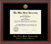 The Ohio State University Diploma Frame - Gold Engraved Medallion Diploma Frame in Signature