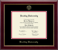 Bradley University Diploma Frame - Gold Embossed Diploma Frame in Gallery