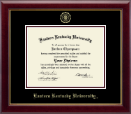 Eastern Kentucky University Diploma Frame - Gold Embossed Diploma Frame in Gallery
