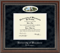 University of Wisconsin La Crosse Diploma Frame - Campus Cameo Diploma Frame in Chateau