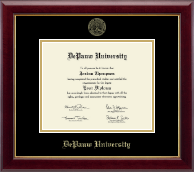 DePauw University Diploma Frame - Gold Embossed Diploma Frame in Gallery