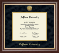 DePauw University Diploma Frame - Gold Engraved Medallion Diploma Frame in Hampshire
