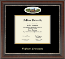 DePauw University Diploma Frame - Campus Cameo Diploma Frame in Chateau