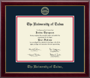 The University of Tulsa Diploma Frame - Gold Embossed Diploma Frame in Gallery