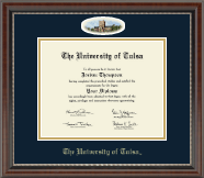 The University of Tulsa Diploma Frame - Campus Cameo Diploma Frame in Chateau
