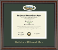 William & Mary Diploma Frame - Campus Cameo Diploma Frame in Chateau