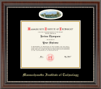 Massachusetts Institute of Technology Diploma Frame - Campus Cameo Diploma Frame in Chateau