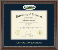 University of Richmond Diploma Frame - Campus Cameo Diploma Frame in Chateau