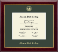 Adams State College Diploma Frame - Gold Embossed Diploma Frame in Gallery
