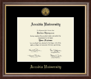 Arcadia University Diploma Frame - Gold Engraved Medallion Diploma Frame in Prescott