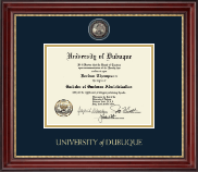 University of Dubuque Diploma Frame - Masterpiece Medallion Diploma Frame in Kensington Gold
