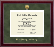Utah Valley University Diploma Frame - Gold Engraved Medallion Diploma Frame in Gallery