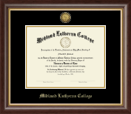 Midland Lutheran College Diploma Frame - Gold Engraved Diploma Frame in Hampshire