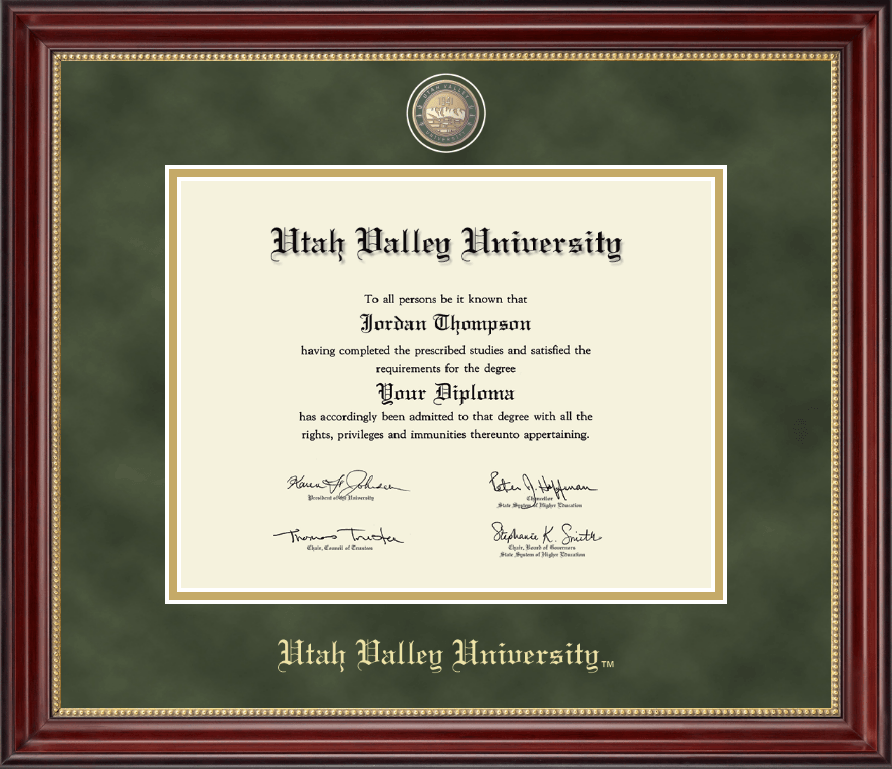 utah valley university diploma frame masterpiece medallion diploma frame in kensington gold