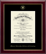 Missouri University of Science and Technology Diploma Frame - Gold Embossed Diploma Frame in Gallery