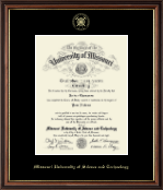 Missouri University of Science and Technology Diploma Frame - Gold Embossed Diploma Frame in Williamsburg