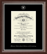 Missouri University of Science and Technology Diploma Frame - Silver Embossed Diploma Frame in Devonshire