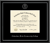 Columbus State Community College Diploma Frame - Silver Embossed Diploma Frame in Onexa Silver