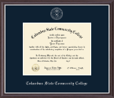 Columbus State Community College Diploma Frame - Silver Embossed Diploma Frame in Devon