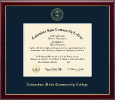 Columbus State Community College Diploma Frame - Gold Embossed Diploma Frame in Galleria