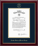United States Naval Academy Certificate Frame - Gold Embossed Certificate Frame in Gallery
