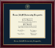 Texas A&M University Kingsville Diploma Frame - Gold Embossed Diploma Frame in Gallery