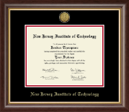 New Jersey Institute of Technology Diploma Frame - Gold Engraved Medallion Diploma Frame in Hampshire