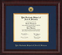 Yale Graduate School of Arts and Sciences Degree Frames