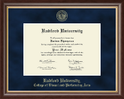 Radford University Diploma Frame - Gold Embossed Diploma Frame in Hampshire