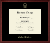 Wofford College Diploma Frame - Gold Embossed Edition Diploma Frame in Camby