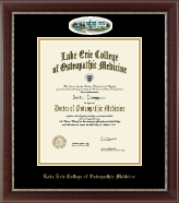 Lake Erie College of Osteopathic Medicine Diploma Frame - Bradenton Campus Cameo Diploma Frame in Chateau