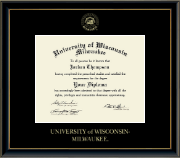 University of Wisconsin-Milwaukee Diploma Frame - Gold Embossed Diploma Frame in Onexa Gold