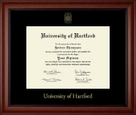 University of Hartford Diploma Frame - Gold Embossed Diploma Frame in Cambridge