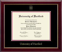 University of Hartford Diploma Frame - Gold Embossed Diploma Frame in Gallery