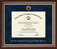 Trinity College of Nursing & Health Sciences Diploma Frame - Gold Engraved Diploma Frame in Hampshire