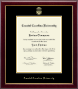 Coastal Carolina University Diploma Frame - Gold Embossed Diploma Frame in Gallery