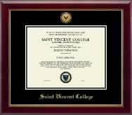 Saint Vincent College Diploma Frame - Gold Engraved Medallion Diploma Frame in Gallery