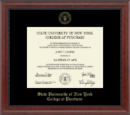 Purchase College Diploma Frame - Gold Embossed Diploma Frame in Signature