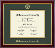 Wilmington University Diploma Frame - Gold Embossed Diploma Frame in Gallery