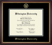 Wilmington University Diploma Frame - Gold Embossed Diploma Frame in Regency Gold