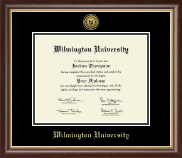 Wilmington University Diploma Frame - Gold Engraved Medallion Diploma Frame in Hampshire
