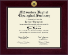 Midwestern Baptist Theological Seminary Diploma Frame - Century Gold Engraved Diploma Frame in Cordova