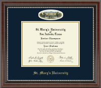 St. Mary's University Diploma Frame - Campus Cameo Diploma Frame in Chateau