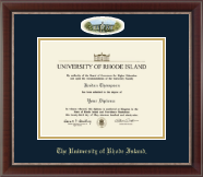 The University of Rhode Island Diploma Frame - Campus Cameo Diploma Frame - Green Hall in Chateau