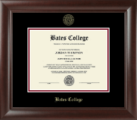 Bates College Diploma Frame - Gold Embossed Diploma Frame in Rainier