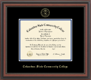 Columbus State Community College Diploma Frame - Gold Embossed Diploma Frame in Regency