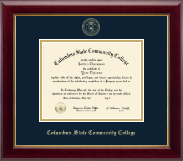 Columbus State Community College Diploma Frame - Gold Embossed Diploma Frame in Gallery
