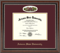 Arizona State University Diploma Frame - Campus Cameo Diploma Frame in Chateau