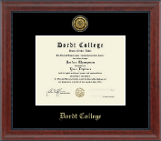 Dordt College Diploma Frame - Gold Engraved Medallion Diploma Frame in Signature