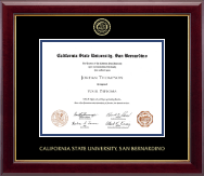 California State University San Bernardino Diploma Frame - Gold Embossed Diploma Frame in Gallery